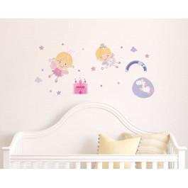Happy Fairies αυτοκόλλητα τοίχου ML Αυτοκόλλητα Medium Large βινυλίου