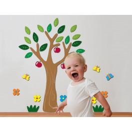 Apple Tree αφρώδη τοίχου L Αφρώδη Large