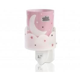 Moon Pink παιδικό φωτιστικό νύκτας πρίζας LED Sweet Light πρίζας