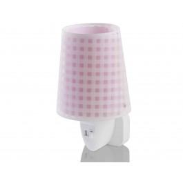 Vichy Pink παιδικό φωτιστικό νύκτας πρίζας LED Vichy Pink