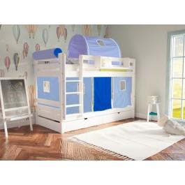 Κουκέτα Join Mασίφ Οξιά  Λευκό Εφηβικό Δωμάτιο