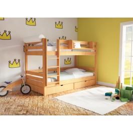 Κουκέτα Join Mασίφ Οξιά χρώμα Φυσικό Εφηβικό Δωμάτιο