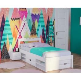 Πολυμοφικό Κρεβάτι Spicy Μασίφ Ξύλο Οξιάς Λευκό Εφηβικό Έπιπλο
