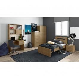 Κρεβάτι Ερμιόνη χρώμα πεύκο (91x197x100) 01. 11641005