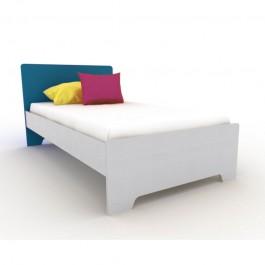 Κρεβάτι Ηλέκτρα  Ξύλο Λάκα Εφηβικό Δωμάτιο