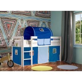 Κρεβάτι υπερυψωμένο Eco μασίφ οξιά χρώμα λευκό  Εφηβικό Δωμάτιο