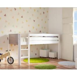 Κρεβάτι υπερυψωμένο Dream Λευκό Οξιά Εφηβικό Δωμάτιο