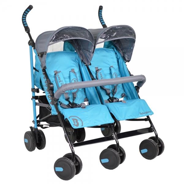 καρότσι διδύμων twin lux blue col 181 Για βόλτα