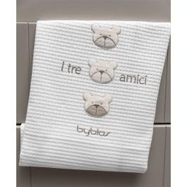 Κουβέρτα πικέ byblos Amici Beige  des.81 Λευκά είδη/Προίκα