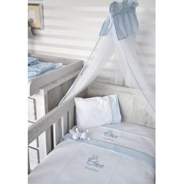 Κουβέρτα πικέ byblos One Blue des.82 Λευκά είδη/Προίκα