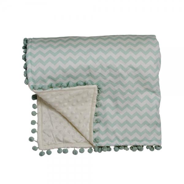 Κουβέρτα fleece με pom-pom Elephant 3053