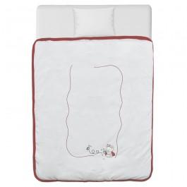 Κουβέρτα βελουτέ red bee