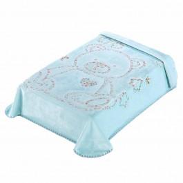 Κουβέρτα κούνιας 3D art baby I04 σιελ 110x140