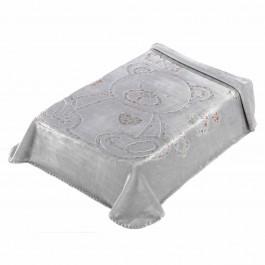 Κουβέρτα κούνιας 3D art baby I04 γκρι 110x140