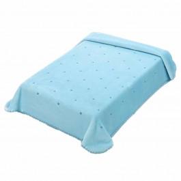 Κουβέρτα κούνιας lingery I51 Σιέλ 110x140