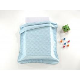 Κουβέρτα βελουτέ bubbles σιέλ 80x110