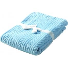 Κουβέρτα κούνιας mimos G84  morven σιέλ(110x140)