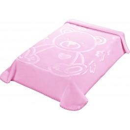 Κουβέρτα κούνιας colour kid's I97 ροζ morven(110x140)