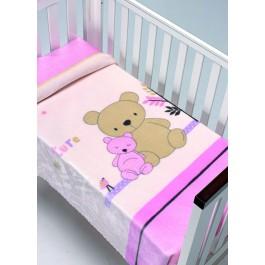 Κουβέρτα βελουτέ Piccola 794 ροζ morven 8424488745468