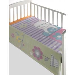 Κουβέρτα βελουτέ κούνιας magic baby 303 λιλά morven 8424488797030