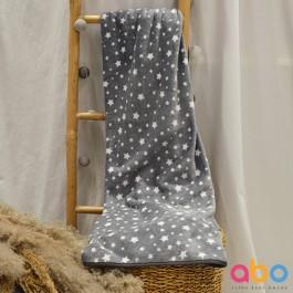 Κουβέρτα 100*150 βελουτέ γκρι ABO 312482-08