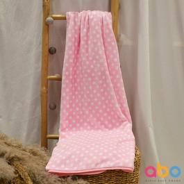 Κουβέρτα 100*150 βελουτέ ροζ ABO 312480-08