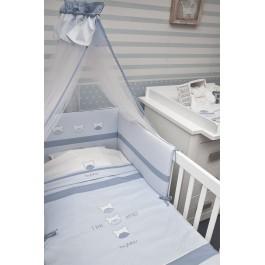 Σετ προίκας byblos Amici Blue Λευκά είδη/Προίκα