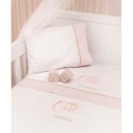 Σετ σεντόνια byblos One pink  Λευκά είδη/Προίκα