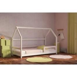 Παιδικός καναπές κρεβάτι GENIUS λευκό οξιά 140cmx70cm Μοντεσσόρι Saltas
