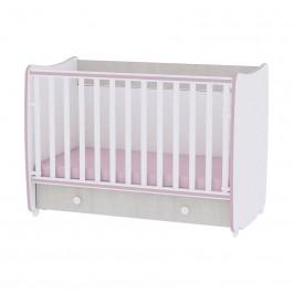 Kρεβάτι DREAM που λικνίζει σε χρώμα white pink cross line