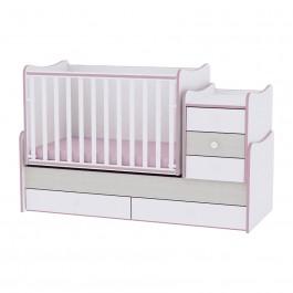 Πολυμορφικό κρεβάτι maxi plus ροζ lorelli 10150300032А