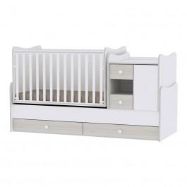 Πολυμορφικό  Έπιπλο Minimax White Light Oak Βρεφικό Δωμάτιο Lorelli 10150500036A