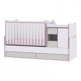 Πολυμορφικό Έπιπλο MInimax White Pink Crossline Lorelli Βρεφικό Δωμάτιο lorelli 10150500032A