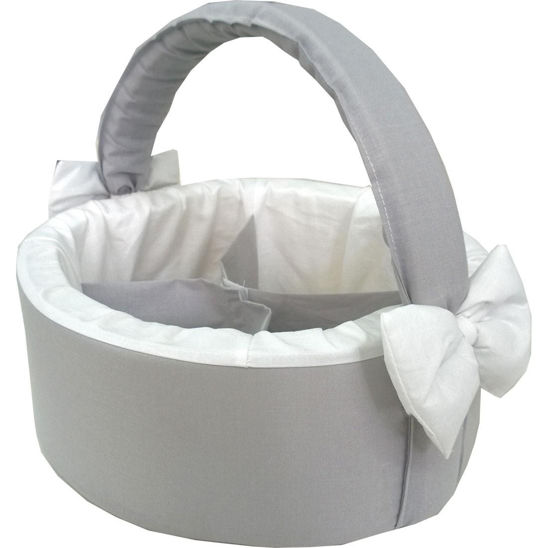 721cce0f009 Καλάθι Καλλυντικών Μωρού Γκρι λευκό Λευκά είδη/Προίκα